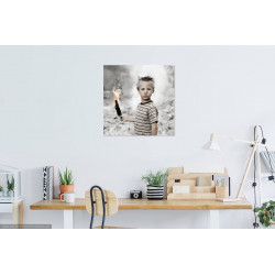 Conceptual Photography Portrait in living room